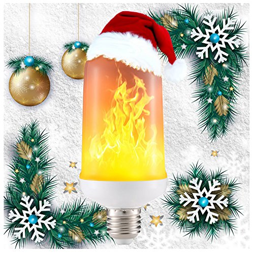 LED Flame Effect Fire Light Bulbs,Creative with Flickering Emulation Lamps,Simulated Nature Fire in Antique Lantern Atmosphere for Vintage Atmosphere for Halloween Christmas, Holiday Hotel/ Bars/ Home (Antique Bar)