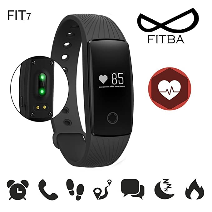 Pulsera Actividad Fit7 HR Smartwatch Android-Fitness Tracker ...