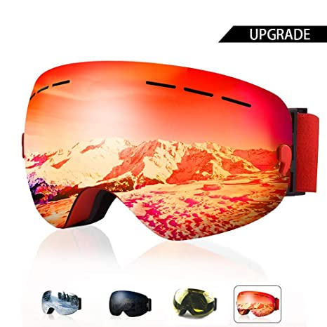 b53cf35d735 Amazon.com   AXRASER Ski Goggles