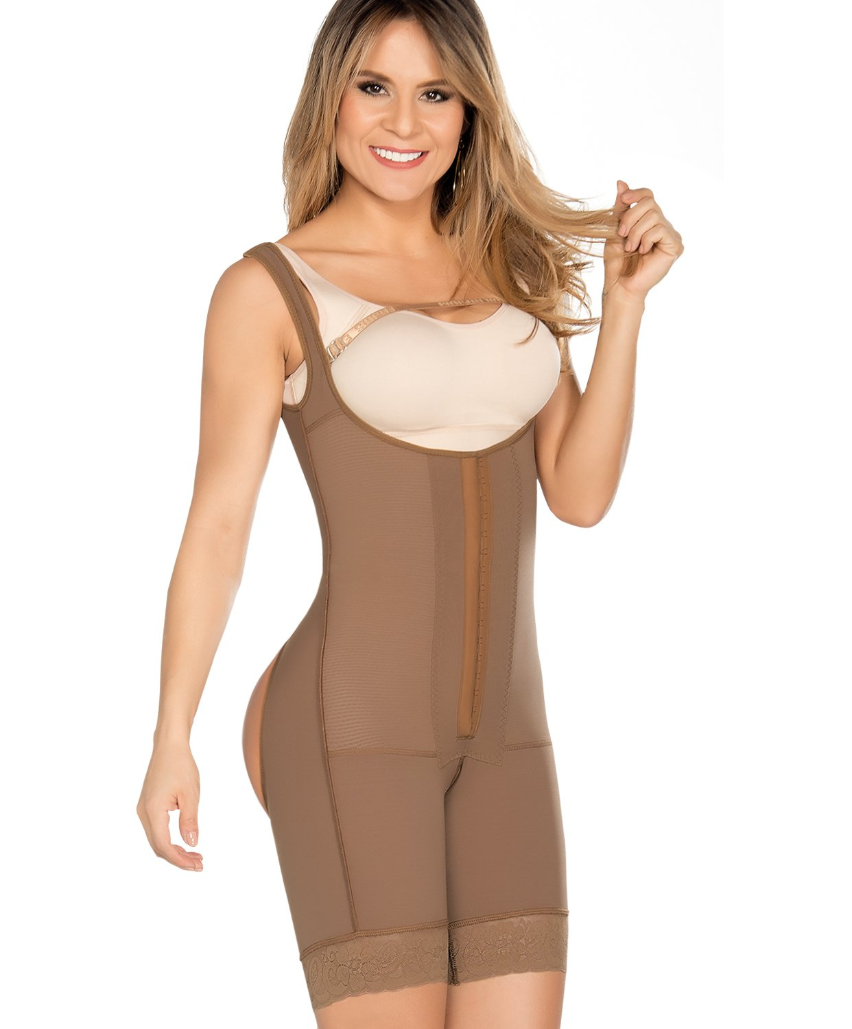 Equilibrium Fajas Colombianas Post Surgery Short Leg Style Bodysuit - C9003