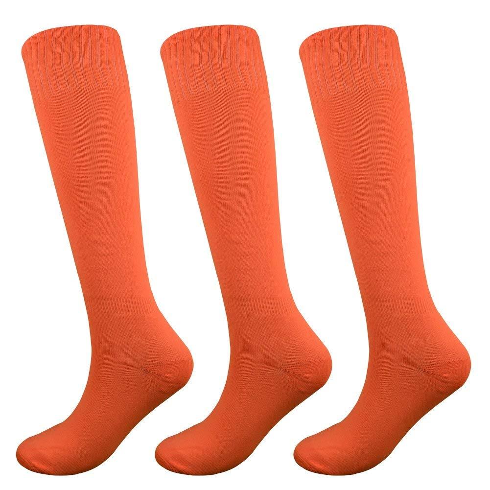 Fitliva Knee High Long Sports Socks Unisex Multicolor 2//3//4//6//9//12 Pairs