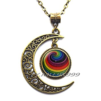 pendant necklace rainbow k gold sea yellow topaz mist