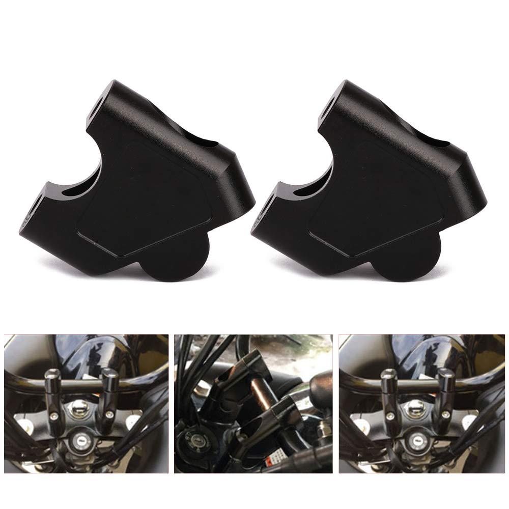 Motorcycle 7//8 Handlebar Risers Clamp Bar Risers For Suzuki GSF 1250S 2007-2016 SV650 2016-2018 SV1000 2003-2007 DL250//V-STROM 250 2017-2018 GW250 S//F 2013-2017 Raised 35mm