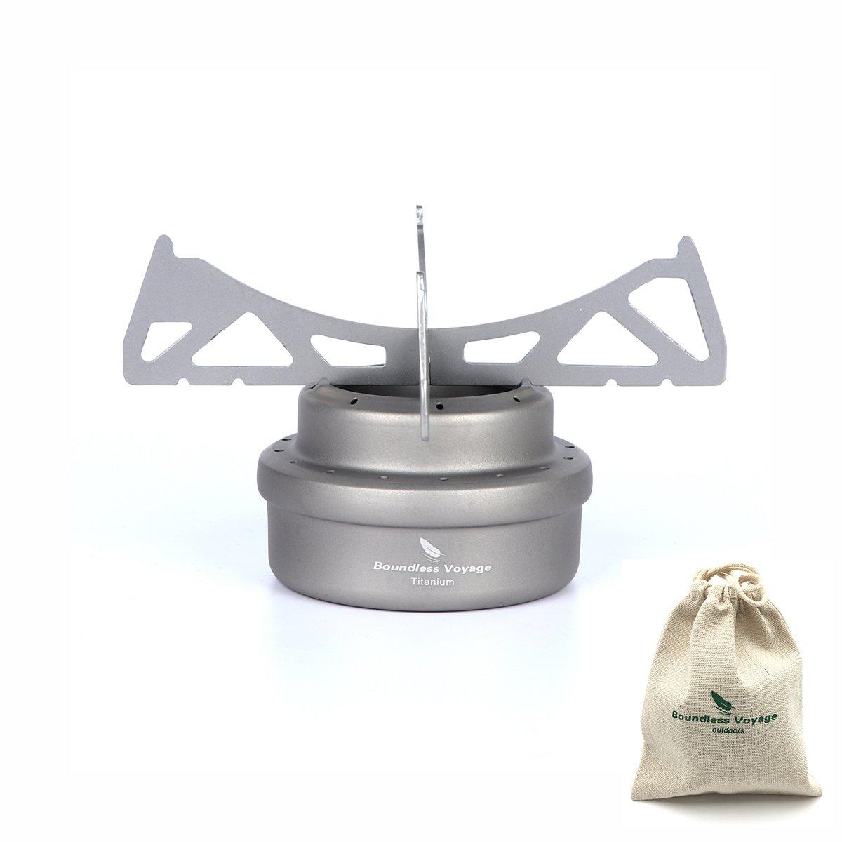 ibasingo titanio esp/íritu estufa con Cruz soporte apoyo al aire libre estufa de Camping Alcohol Picnic estufa con los titulares estante