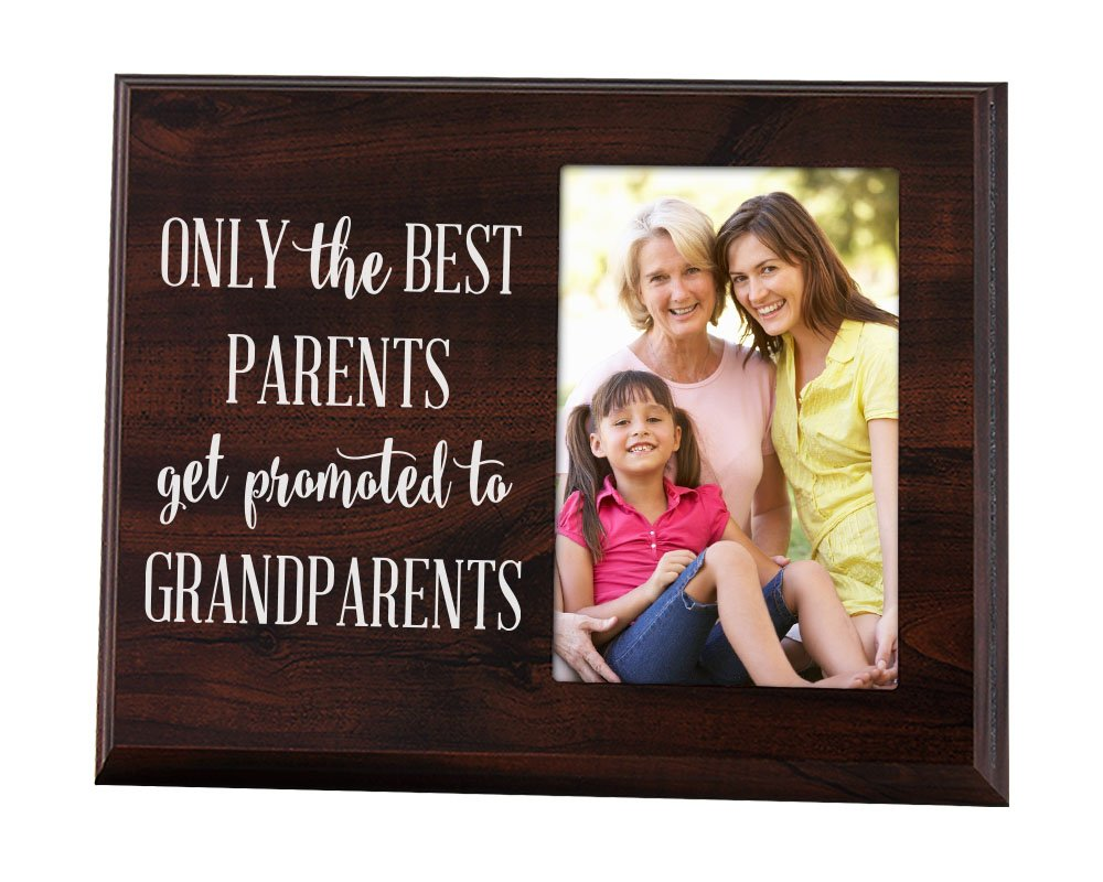 Elegant Signs Only The Best Parents Get Promoted to Grandparents Gift for Grandparents Ultrasound Picture Frame Baby Announcement Gift
