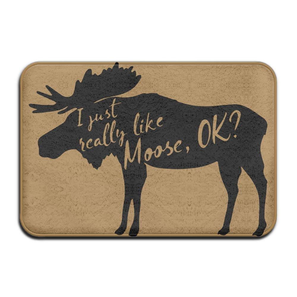 KOESBY-MT Super Soft Door Floor Mat I Just Really Like Moose Bedroom Floor Absorbent Doormat