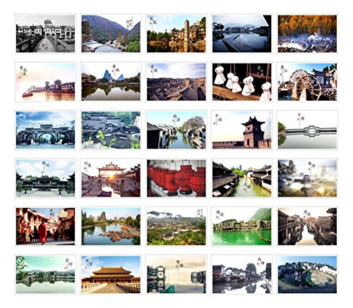 China Postcard - 30 PCS Beautiful China Travel Scenery Artistic Retro Photo Postcards- S5