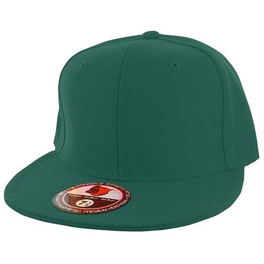 0afd35df7 Pit Bull Plain Colors Flat Bill Visor Fitted Hat Baseball Cap (25+ Colors 9  Sizes)