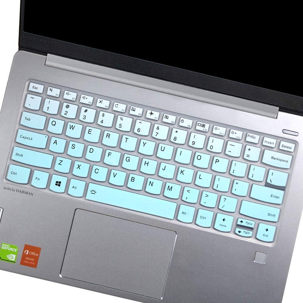 "Keyboard Cover for Lenovo Yoga C940 C740 14, Yoga C930 930 920 13.9""/ Lenovo Yoga 730 720 720S 13.3""/ Lenovo Yoga 730 15.6"" /Yoga 720 12.5""/ Lenovo Flex 14 14"" Keyboard Protective Skin, Gradual Mint"