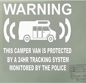 6 x Chupete de furgoneta/Falso Unit – Furgoneta de dispositivo de sistema de seguimiento GPS Alarma de Seguridad Advertencia Señal de vinilo de pegatinas para ventana diseño de seguimiento de policía: Amazon.es:
