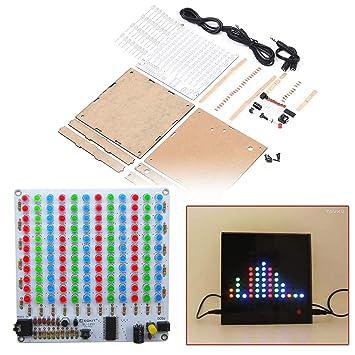 tmallshop 12 x 11 color LED Música Audio indicador de nivel de analizador de espectro Kit con funda de DIY electoronics práctica de soldadura: Amazon.es: ...