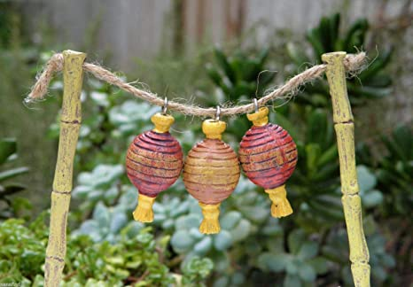 Miniature Dollhouse FAIRY GARDEN Accessories ~ Green Metal Lantern ~ NEW