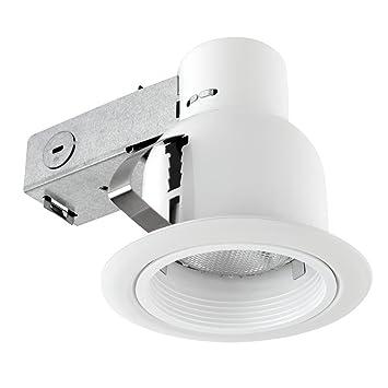 4 quot  Damp Rated Dimmable Downlight Indoor Outdoor Ridged Baffle Rust  Proof Recessed Lighting KitAmazon com  4  Damp Rated Dimmable Downlight Indoor Outdoor Ridged  . Easy Track Lighting Kit. Home Design Ideas