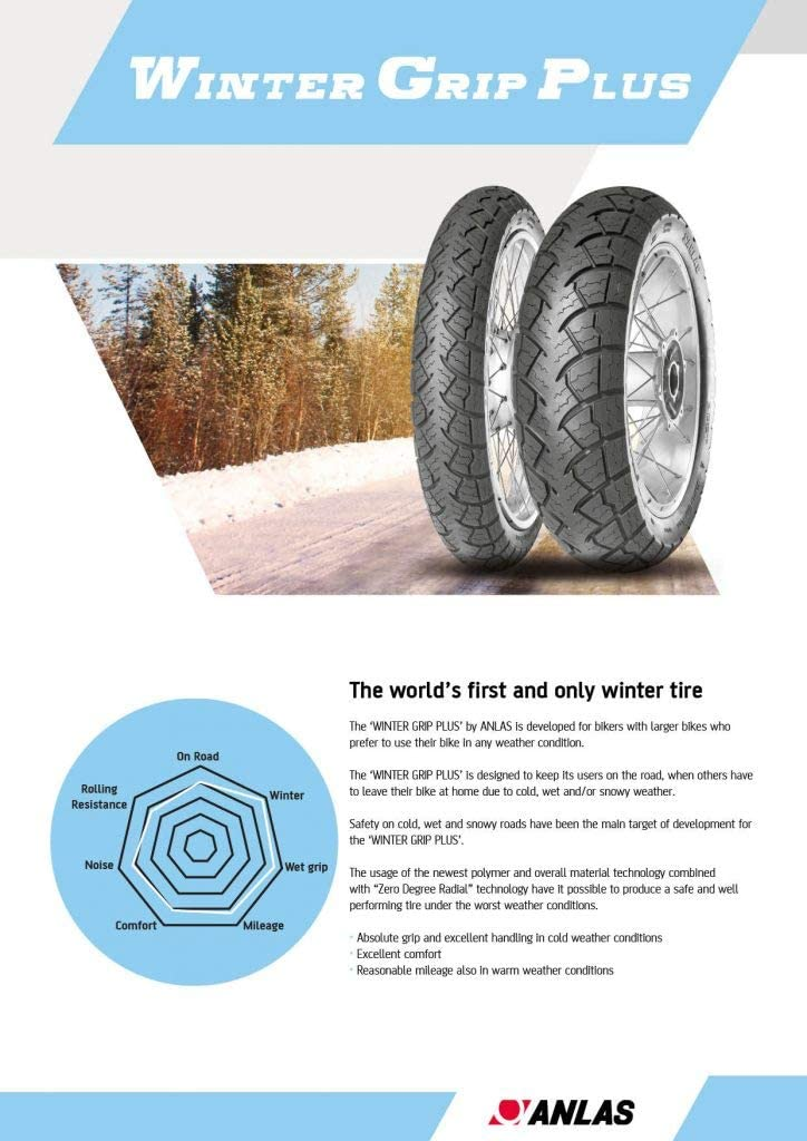 110//80 R19 59V TL Anlas Winter Grip Plus Front Tyre Brand New