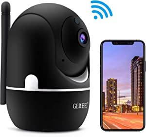 Wireless Security Camera,GEREE 1080P HD Surveillance Camera WiFi Indoor IP Camera for Home/Baby/Pet/Nanny with Motion Detection,2 Way Audio Night Vision, Support Cloud Storage,2020 Latest Upgrade