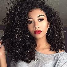 FeiBin Hair Unprocessed Brazilian Curly Virgin Hair 1 Bundles 100g Total Remy Brazilian Sexy Curly Weave Human Hair Extensions (16 inch)