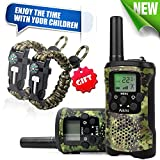 Aikmi Walkie Talkies Kids 22 Channel 2 Way Radio 3 Mile Long Range Ingenious Communication Gadget Preventing Myopia Toys Best Birthday Gifts 6 Year Old Girls Fit Outdoor Adventure Game (Green camo)