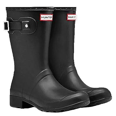 c58c7cddf61 Hunters Boots Women's Original Tour Short Boots, Black, 6 B(M) US