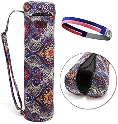 Bonniee yoga mat bolsa con bolsillo de almacenamiento ...