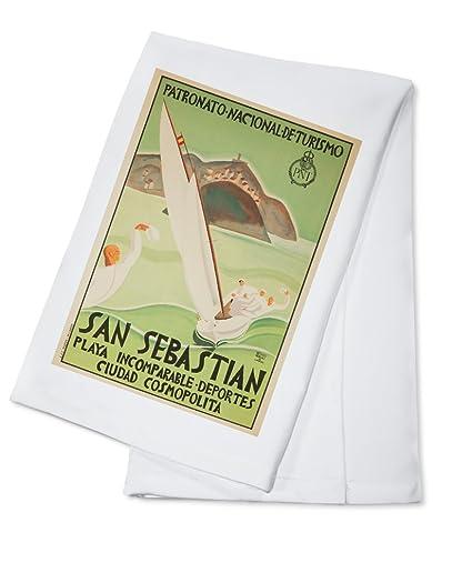 San Sebastian Vintage Póster (artista: de Caviedes) España C. 1925 (100