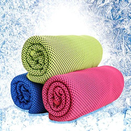 Generic azul marino azul: 30* 100cm deporte refrigeración toalla de hielo ejercicio sudor verano hielo frío poliamida Cable de microfibra Toallas de hipotermia de al aire libre gimnasio SA-2U-ABA-62678