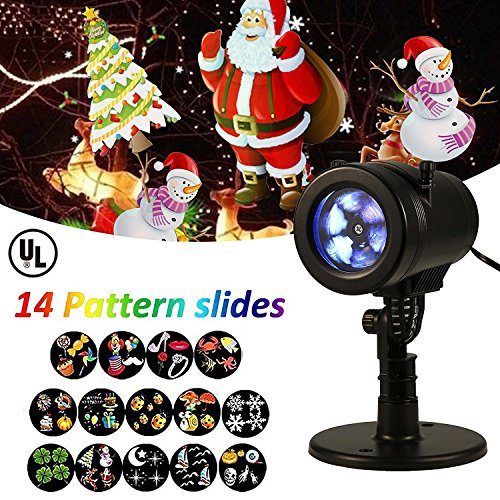 LIGHTESS Christmas Lights Projector Outdoor Indoor Halloween Decorations Waterproof LED Landscape Spotlight for Xmas Theme Party Store Window and -