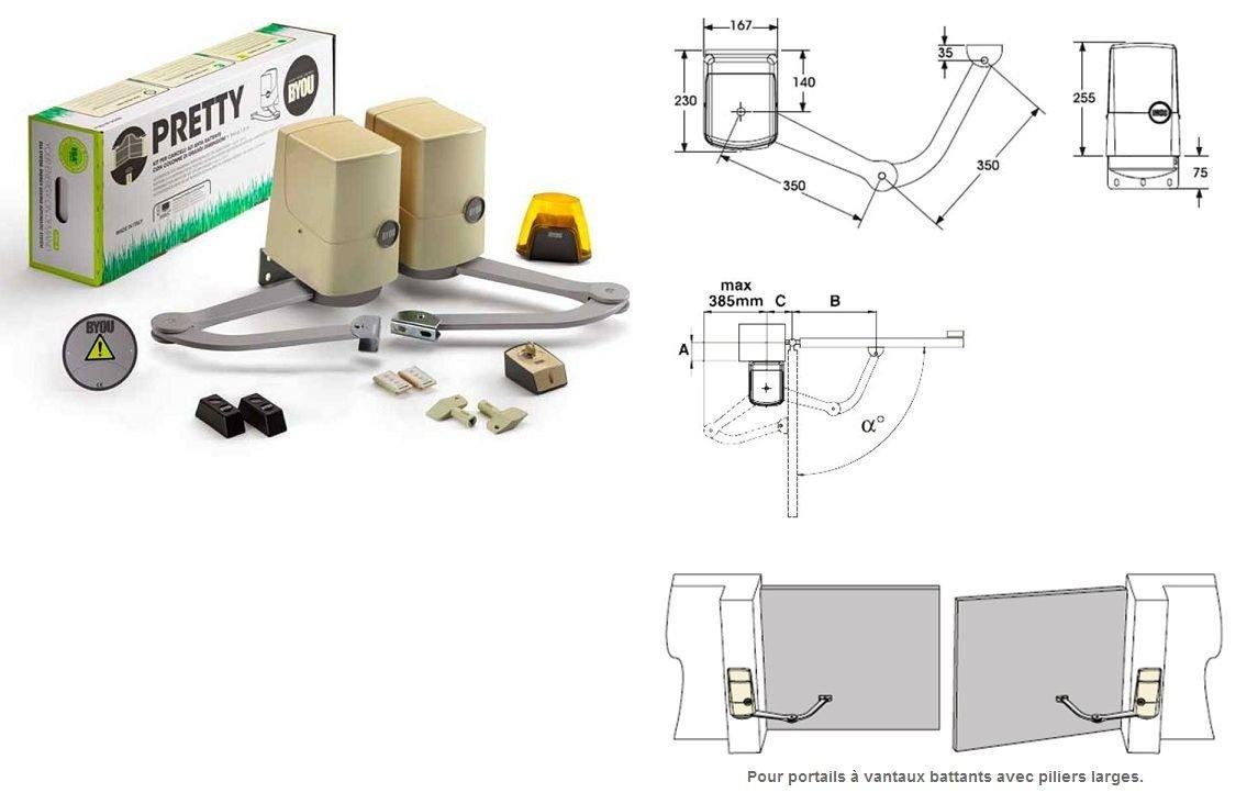 Beninca TOGO2WP-Kit de motorización de pórticos corredizos PRETTY 24 Vdc hasta 1,8 m Beninca TOGO2WP-9591035 Byou: Amazon.es: Bricolaje y herramientas
