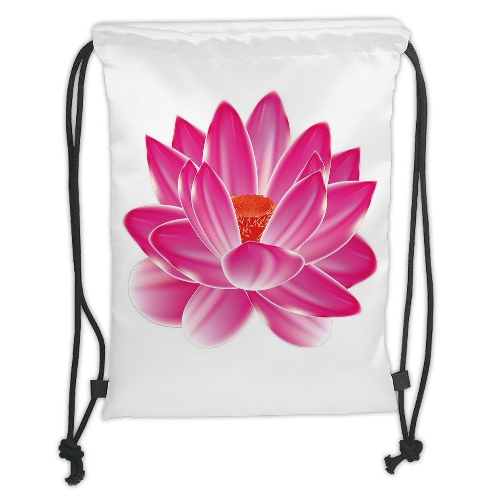 Custom Printed Drawstring Sack Backpacks Bagslotusvibrant Lotus