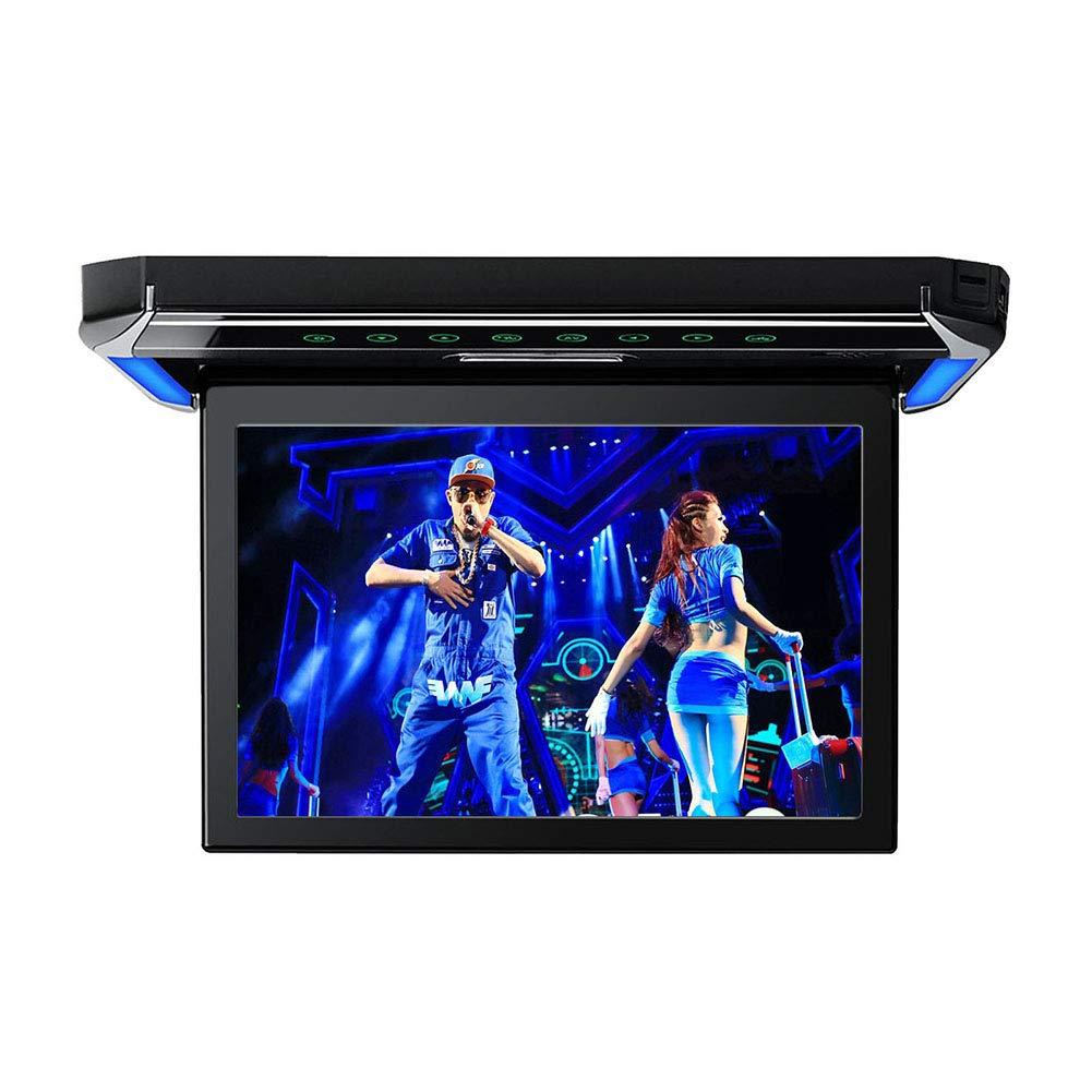12.1 inch Flip Down Car Overhead Monitor 1080P Video HD Digital TFT Screen Wide Screen Mounted Car Roof Player HDMI IR FM USB SD