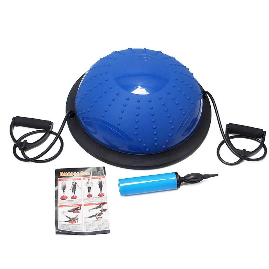 HUIFA ヨガ半球フィットネスボール青滑り止めpvcヨガボールエラスティックバランスボールヨガエクササイズフィットネス製品 あなたを健康で強くすることができます 46センチメートル 46せんちめ゜とる 青 B07QGM6WKL