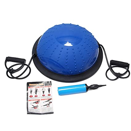 Amazon.com: HONGNA Yoga Hemisphere Fitness Ball Blue Non ...
