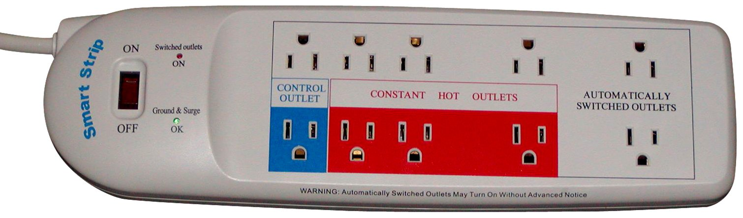 Smart Strip LCG-3MVR Energy Saving Surge Protector with Autoswitching Technology, 10-Outlet by Smart Strip (Image #2)