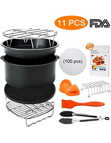 8 Inch Air Fryer Accessories,Blusmart 11 pcs Deep Fryer Accessories Set for Gowise,