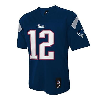 7215bd0e8 Tom Brady NFL Youth Jersey  Home Navy  12 New England Patriots Jersey (X