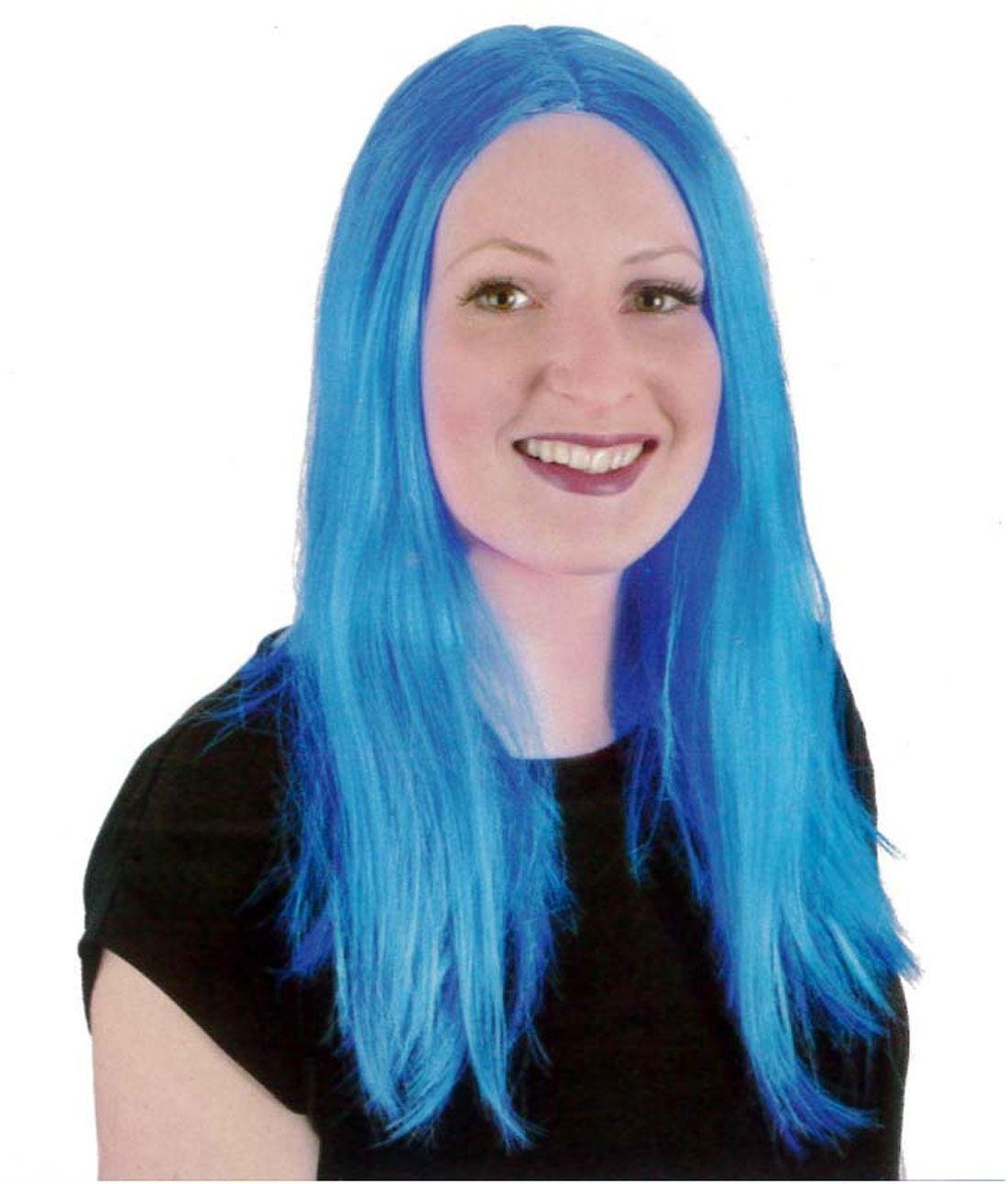 Islander Fashions Peluca recta larga de las pelucas largas azules de las mujeres: Amazon.es: Ropa y accesorios