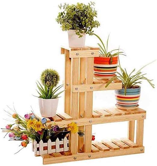 AIDELAI - Estante de Flores de Madera con múltiples Capas, para salón, balcón, Exterior, Mueble para Plantas, Soporte de Almacenamiento multifunción, para Patio, jardín, pérgolas: Amazon.es: Jardín