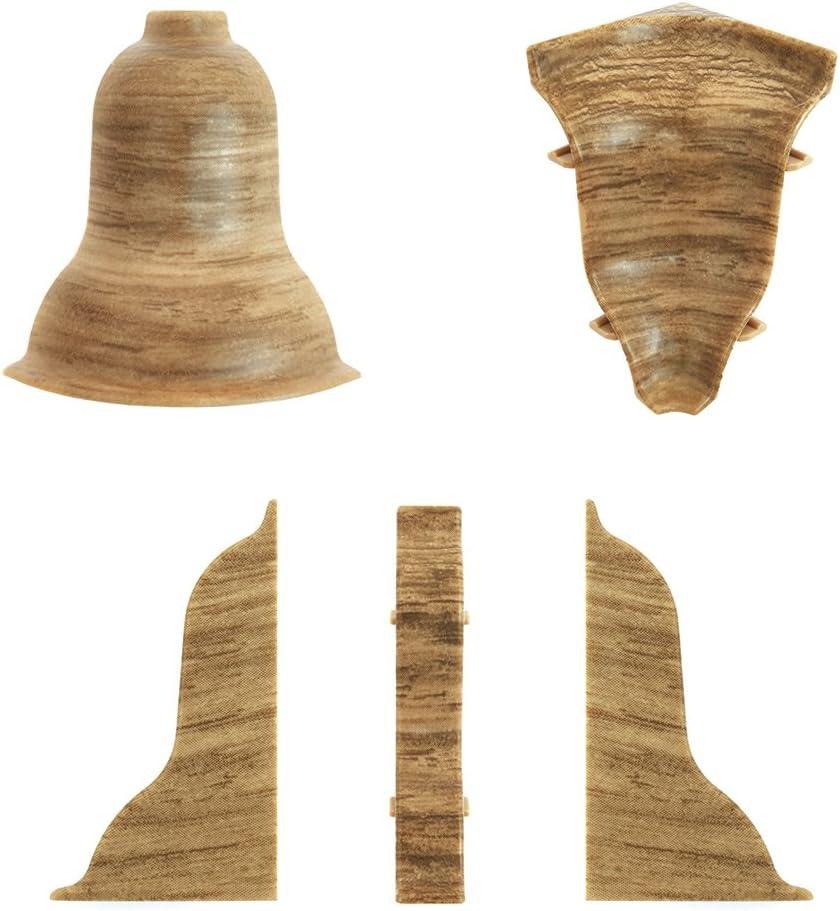DQ-PP 1 x Verbinder Kiefer wei/ß 62mm zum Dekor Lamiat Dekore Laminatleisten Fussleisten aus Kunststoff PVC Kiefer wei/ß