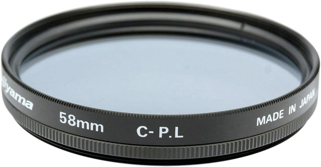 Fujiyama Black 58mm Circular Polarizing Filter for Fujifilm XC 16-50mm F3.5-5.6 OIS//OIS II Made in Japan