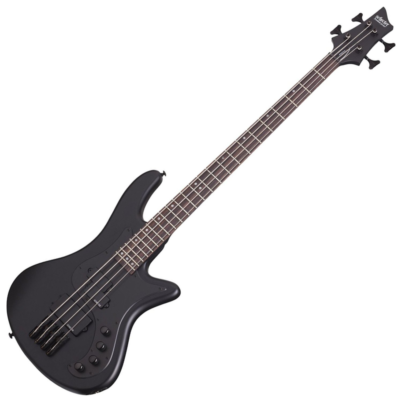 Schecter 2522 4-String Bass Guitar, Satin Black