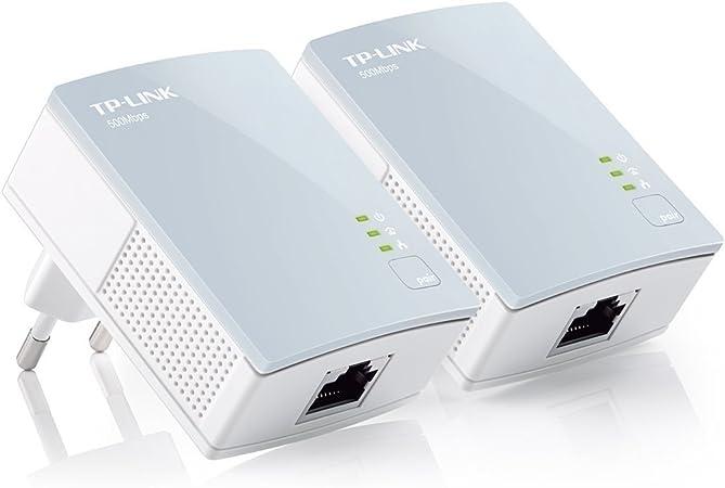 TP-Link Mini TL-PA411KIT - Extensor de Red por línea eléctrica (500Mbps Ethernet), Blanco [Importado]