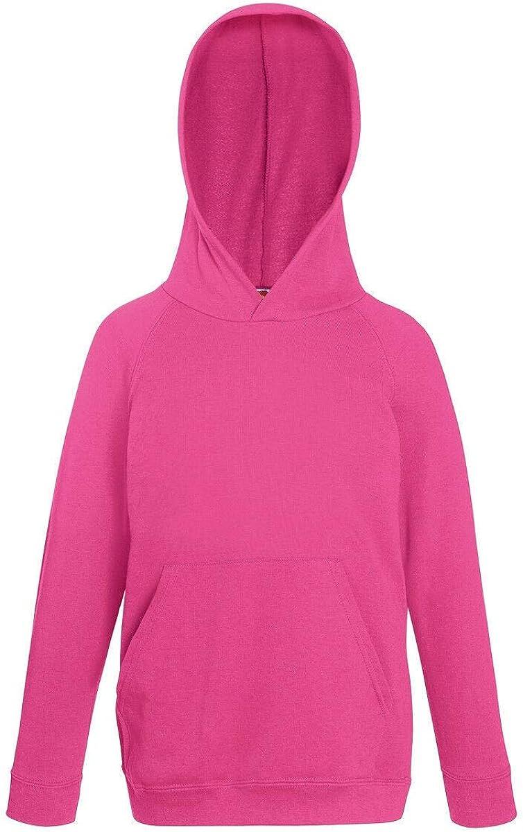 Fruit of the Loom Childrens Unisex Lightweight Hooded Sweatshirt//Hoodie