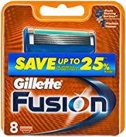 Gillette Fusion Men's Shaving Razor Blades, 8 Pack Refill Cartridges, Mens Fusion Razors / Blades