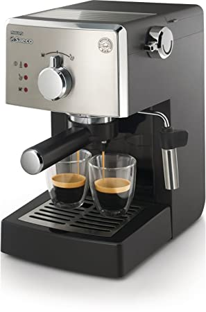 Saeco HD842501 - Cafetera espresso, manual, 15 bares, deposito agua 1,2L, color negro: Amazon.es: Hogar