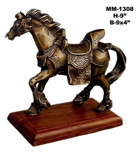 House of Brass Animal Horse Metal Statue Showpiece Decorative Figurine Home Interior Decor Item Feng Shui Table Decoration