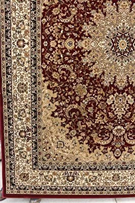 Traditional Isfahan High Density 1 Inch Thick Wool 1.5 Million Point Persian Area Rugs Dunes Collection