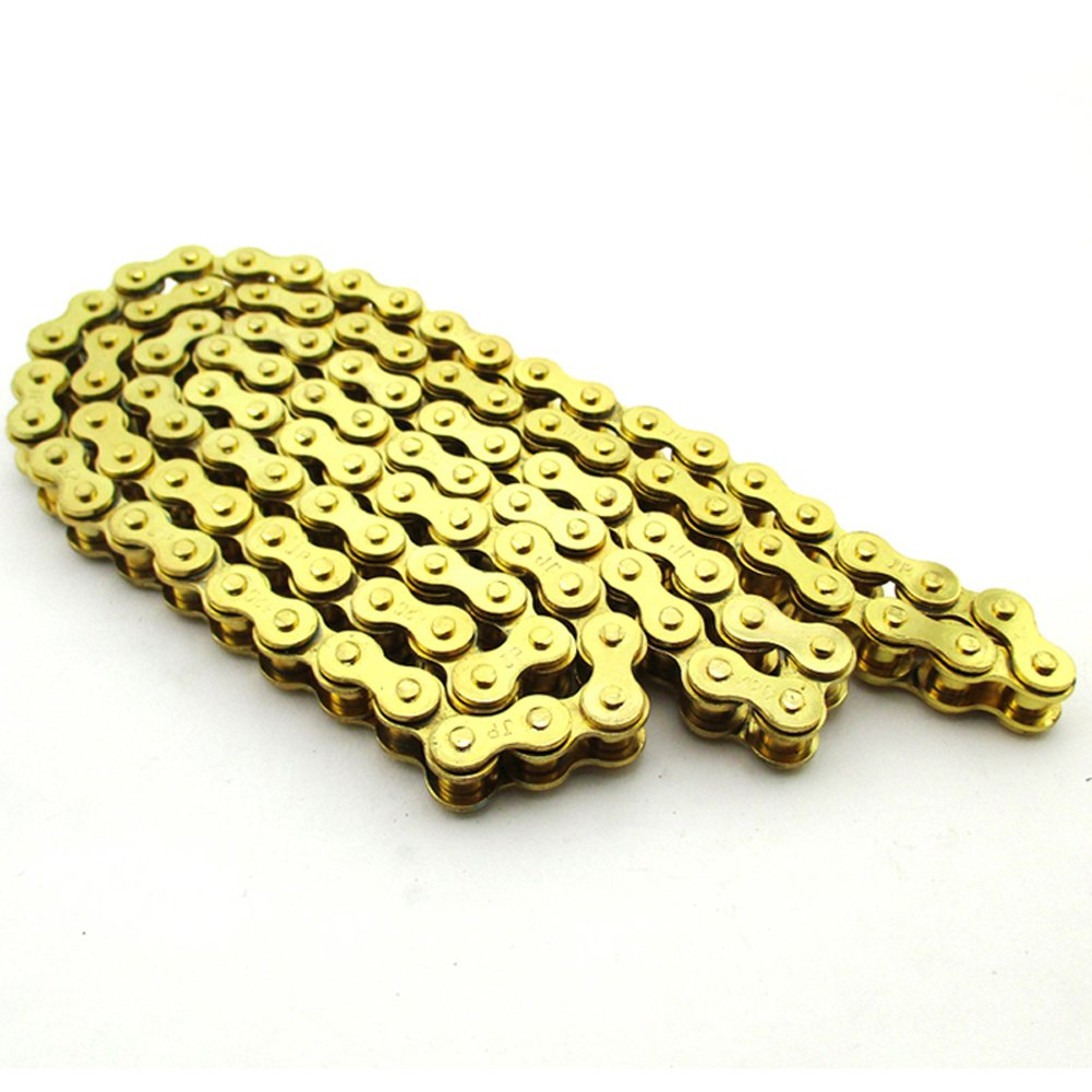 Race-Guy Gold 420 Chain 104 Links For Chinese 110cc 125cc Engine Pit Dirt Motor Trail Bike 110cc 125cc Lifan YX Zongshen Engine Chinese ATV Quad 4 WheelerRocket Sunl Taotao Kazuma Motorcycle SSR Thumpstar XR50 CRF50 CRF70 YCF SDG DHZ Atomik