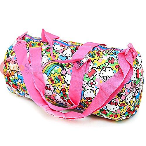 42eed3fd099f Sanrio Hello Kitty Cylinder Duffel Bag Travel Gym 20