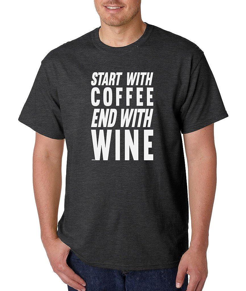 VISHTEA I Love Coffee and Wine T-Shirt All I Need is Coffee Shirts