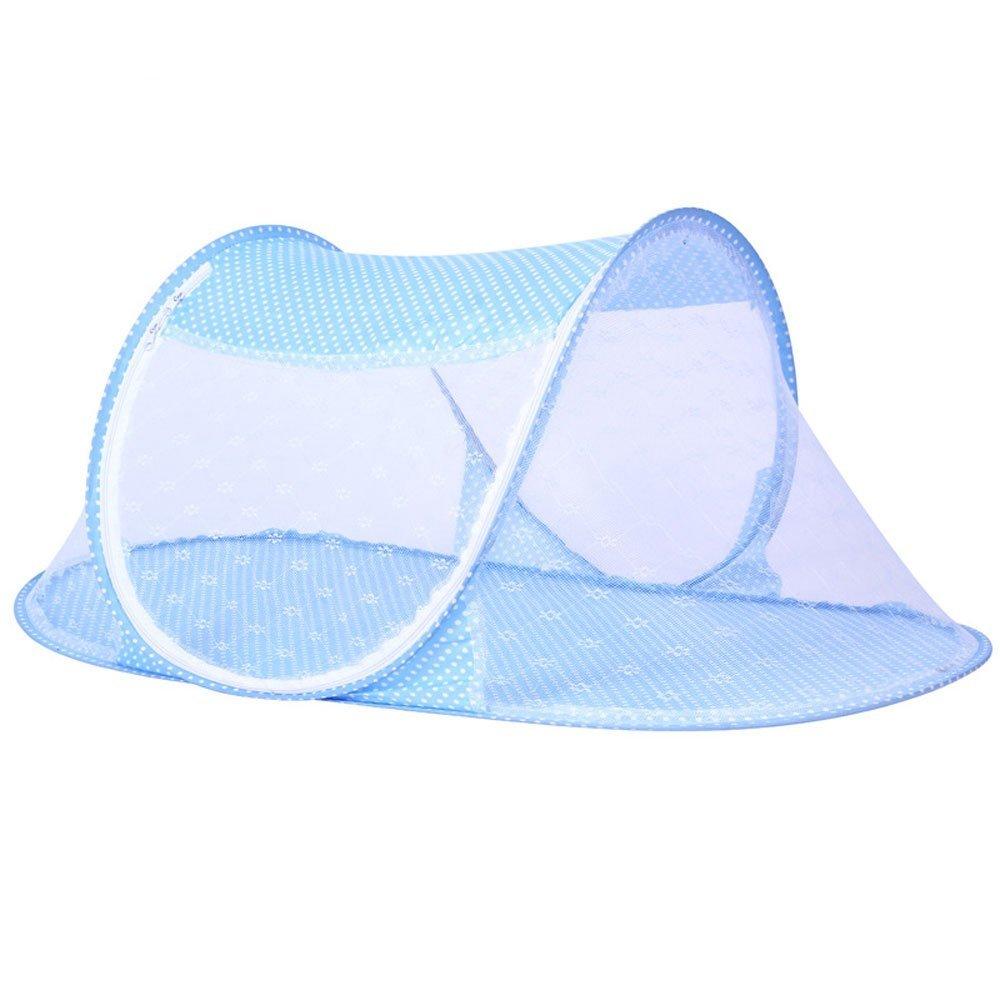 CdyBox Portable Travel Baby Tent Pop Up Playpen Instant Mosquito Net (Blue)