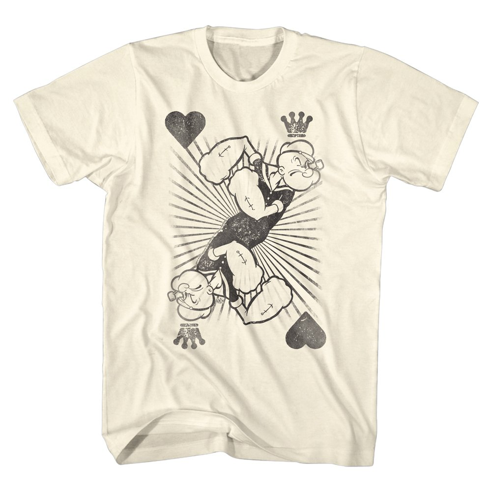 Popeye The Sailor Man 1960 S Cartoon Vintage Style King Of Hearts Adult T Shirt